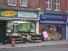 colourful shop fronts